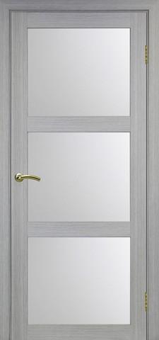 Дверь Optima Porte Турин 530.222, стекло матовое, цвет дуб серый, остекленная