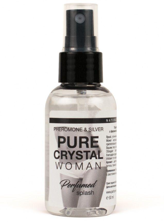 Духи и смазки для женщин: Женский парфюмированный спрей для нижнего белья Pure Cristal - 50 мл.