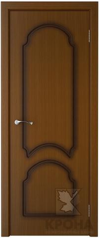 Дверь Крона Соната, цвет орех, глухая