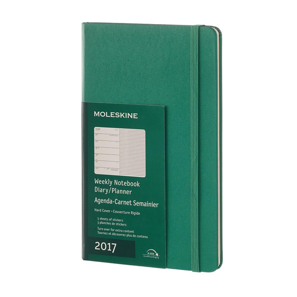 Еженедельник Moleskine Classic Wknt Large, цвет зеленый малахит