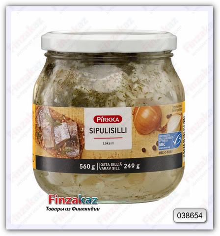 Сельдь Pirkka Sipulisilli (лук с перцем) 560/250 гр