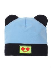 10104-5 шапка для мальчиков, черно-голубая