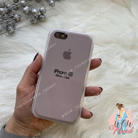 Чехол iPhone 5/5s/SE Silicone Case /lavender/ лаванда 1:1