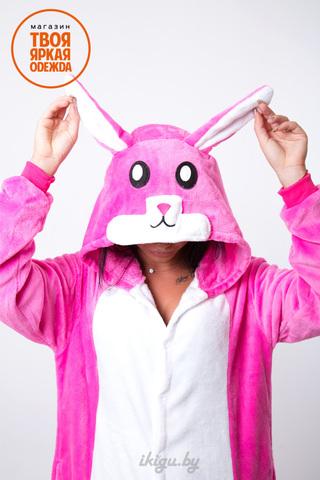 Заяц розовый