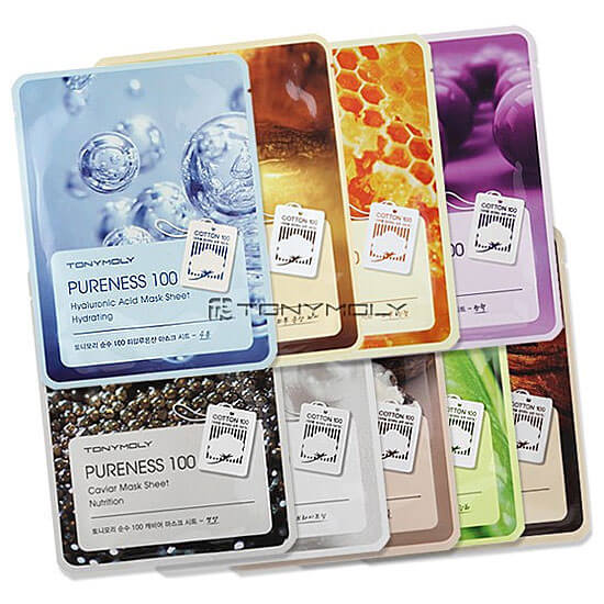 Тканевые маски Tony Moly Pureness 100 Mask Sheet