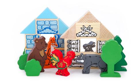 Томик, конструктор деревянный сказки