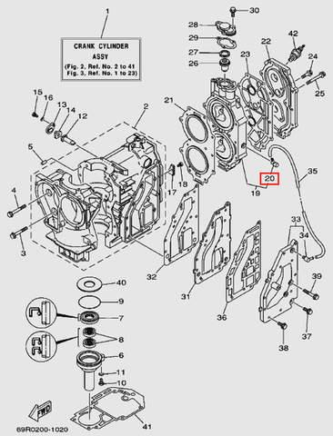 Штуцер для лодочного мотора Т30 Sea-PRO (2-20)