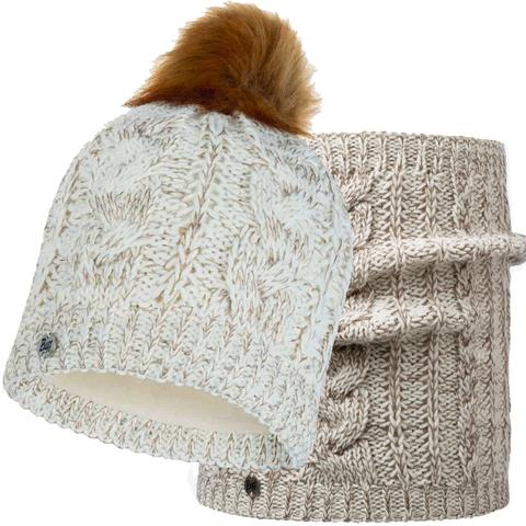 Комплект шарф-шапка вязаный Buff Darla Cru