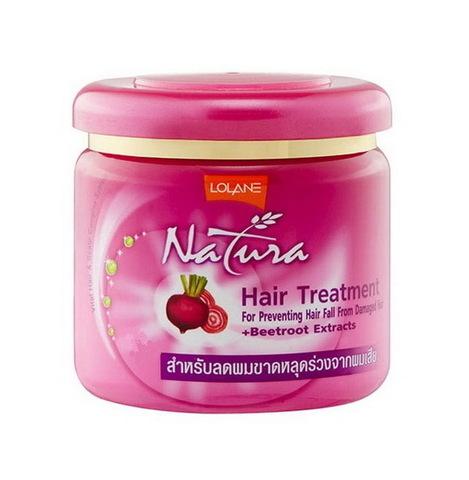 Маска для поврежденных волос против выпадения с экстрактом сахарной свеклы LOLANE NATURA Hair Treatment Beetroot Extracts, 250 мл