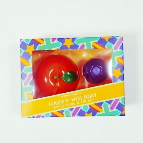 Подарочный набор Tony Moly Happy Holiday Apple Hand And Lip Set (Blueberry)