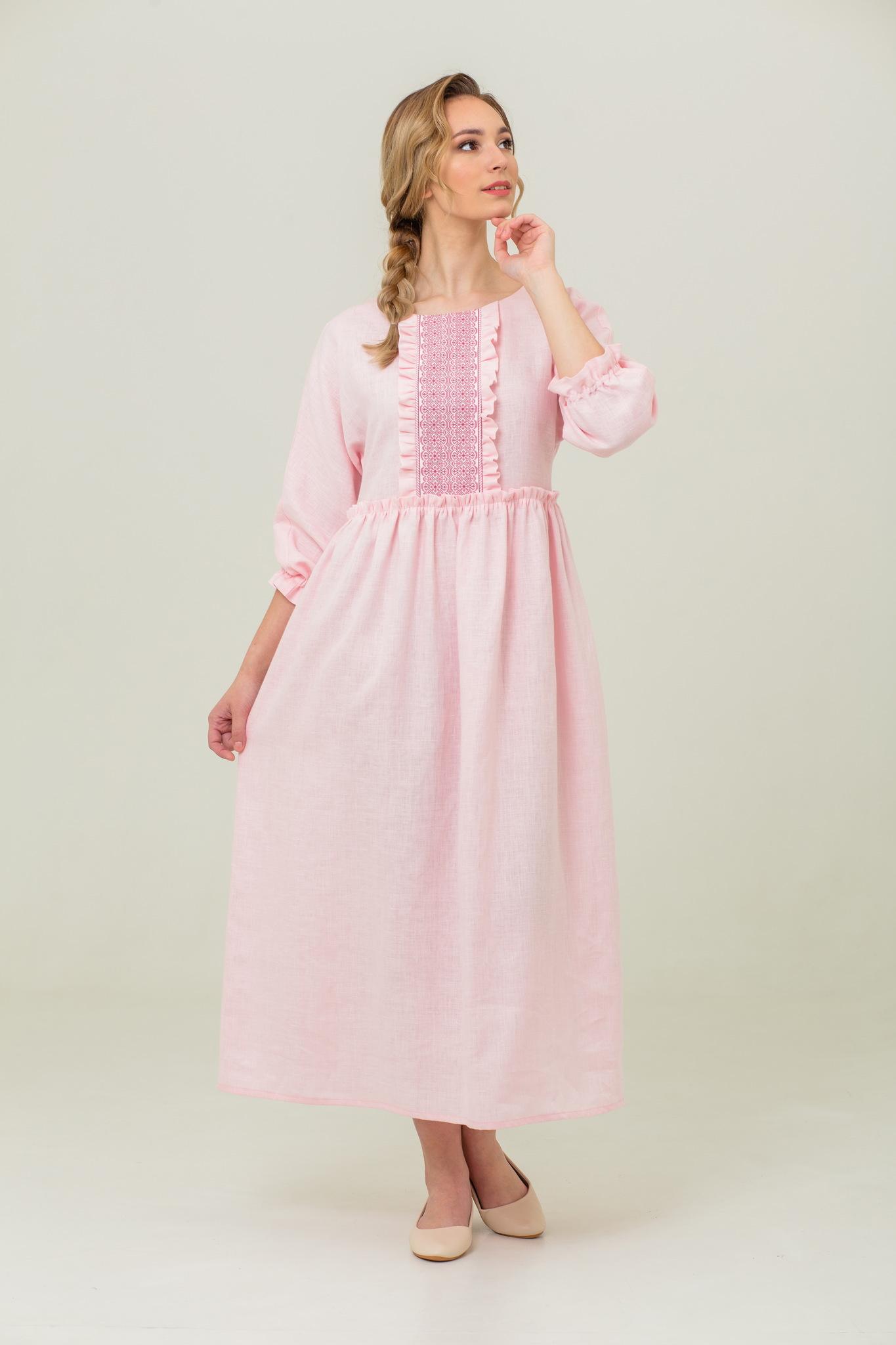 платье бохо в русском стиле Цветущий миндаль