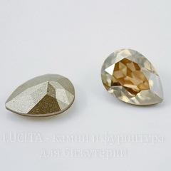 4320 Ювелирные стразы Сваровски Капля Crystal Golden Shadow (18х13 мм)