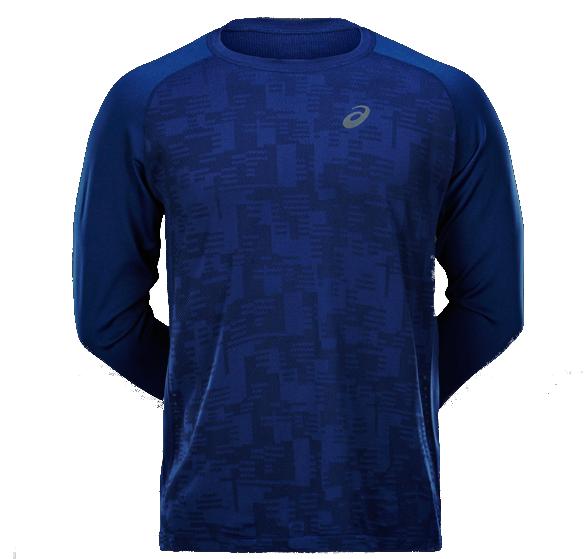 Мужская беговая рубашка Asics LS Seamless Top (124753 8052)