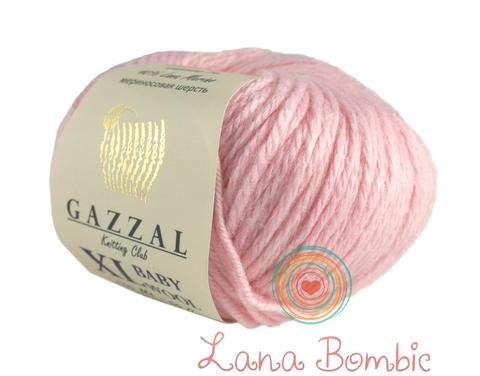 Пряжа Gazzal Baby Wool XL нежно-розовый 836