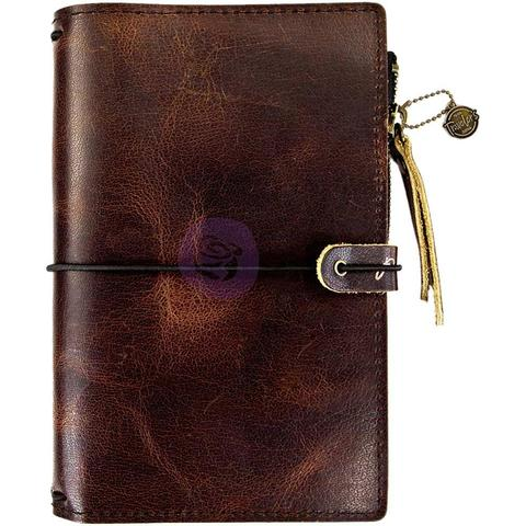 Органайзер дорожный -Prima Traveler's Journal Leather Essential -Mocha Brown- 12,5 х18,5 см. Натуральная кожа.