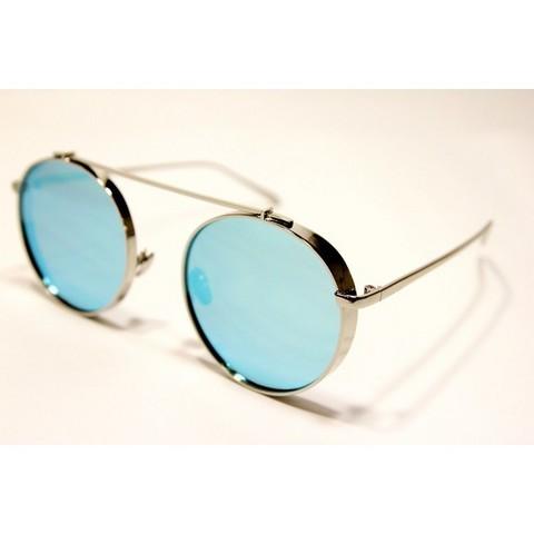 Солнцезащитные очки 6002001s Голубые зеркальные