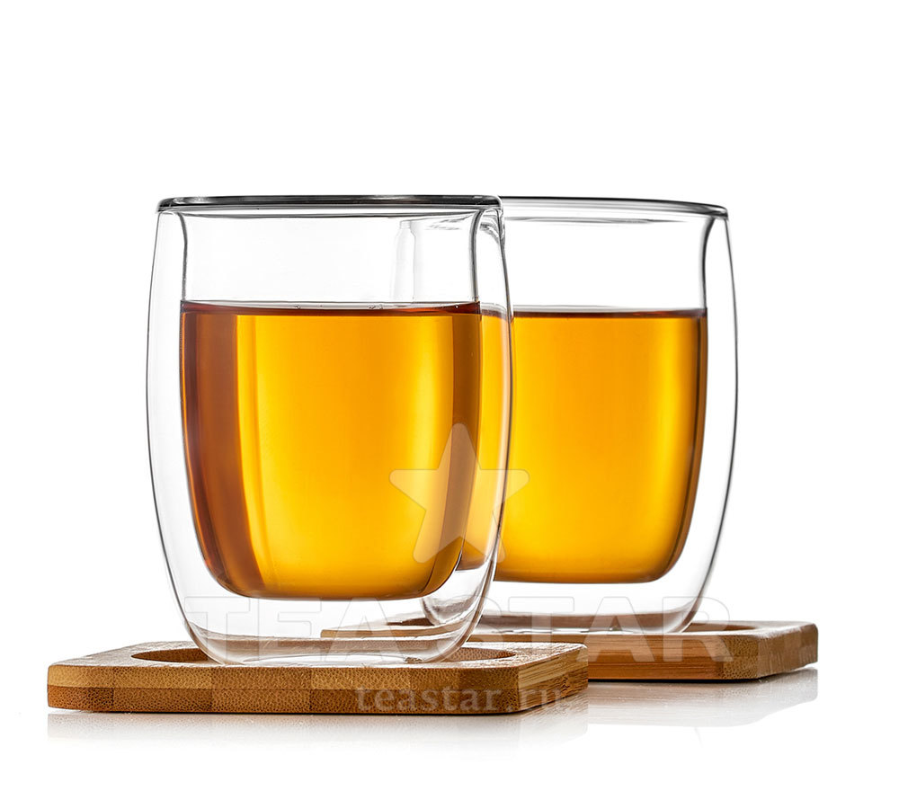 Чашки с двойными стенками Два стакана с двойными стенками и подставками, 200 мл stakany_s_dvoynimi_stenkami_bamboo_200ml.jpg
