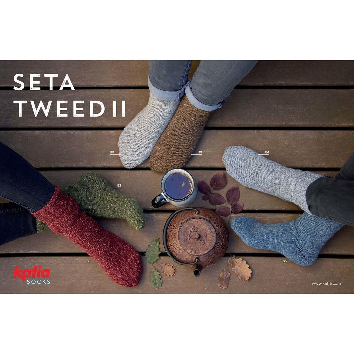 Katia Seta Tweed II Socks - 85
