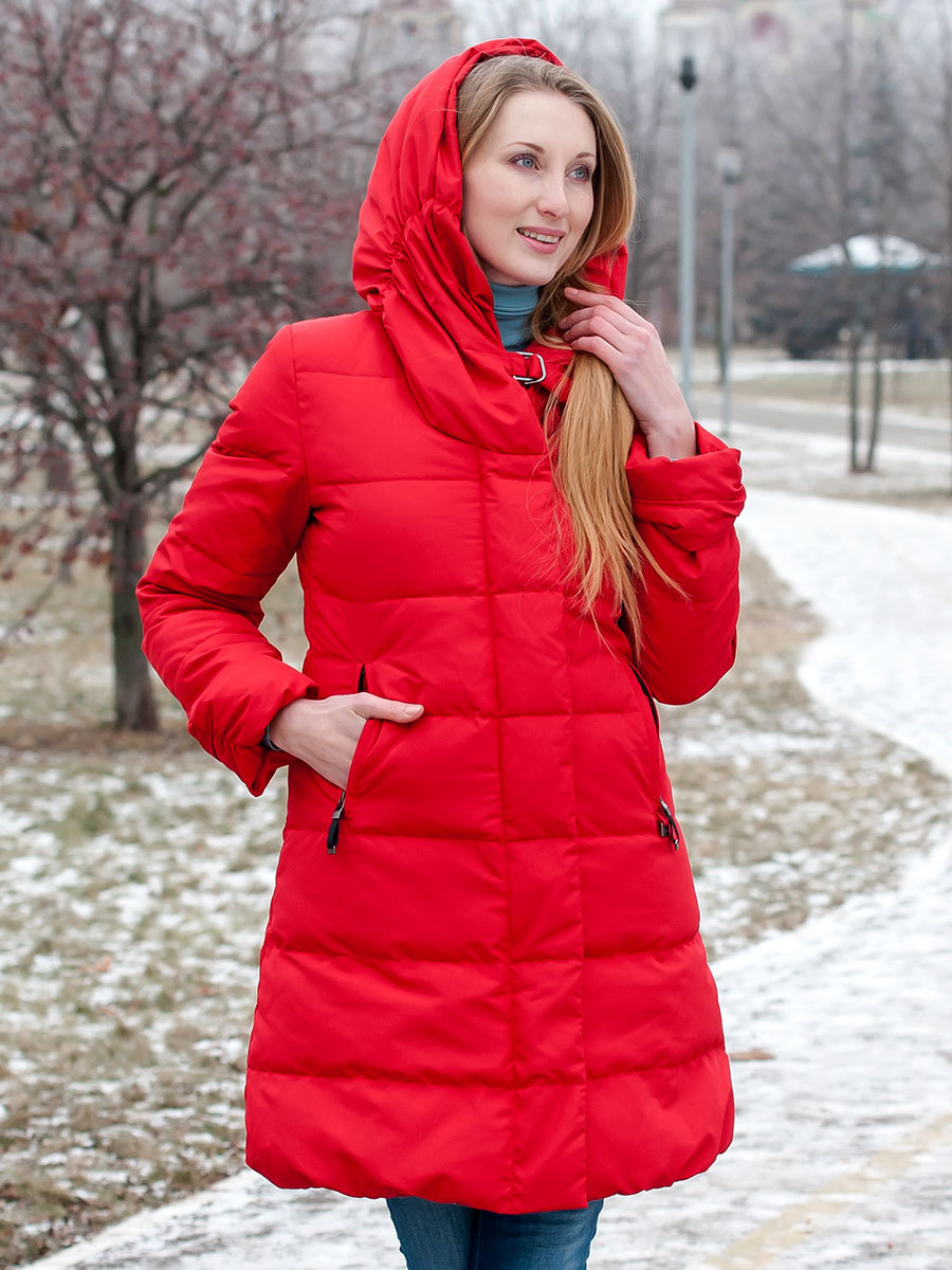 Joutsen пуховик ERICA красный