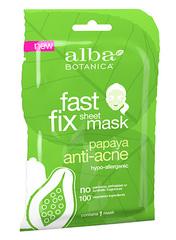 Тканевая глубокоочищающая маска для проблемной кожи с папайей, Alba Botanica