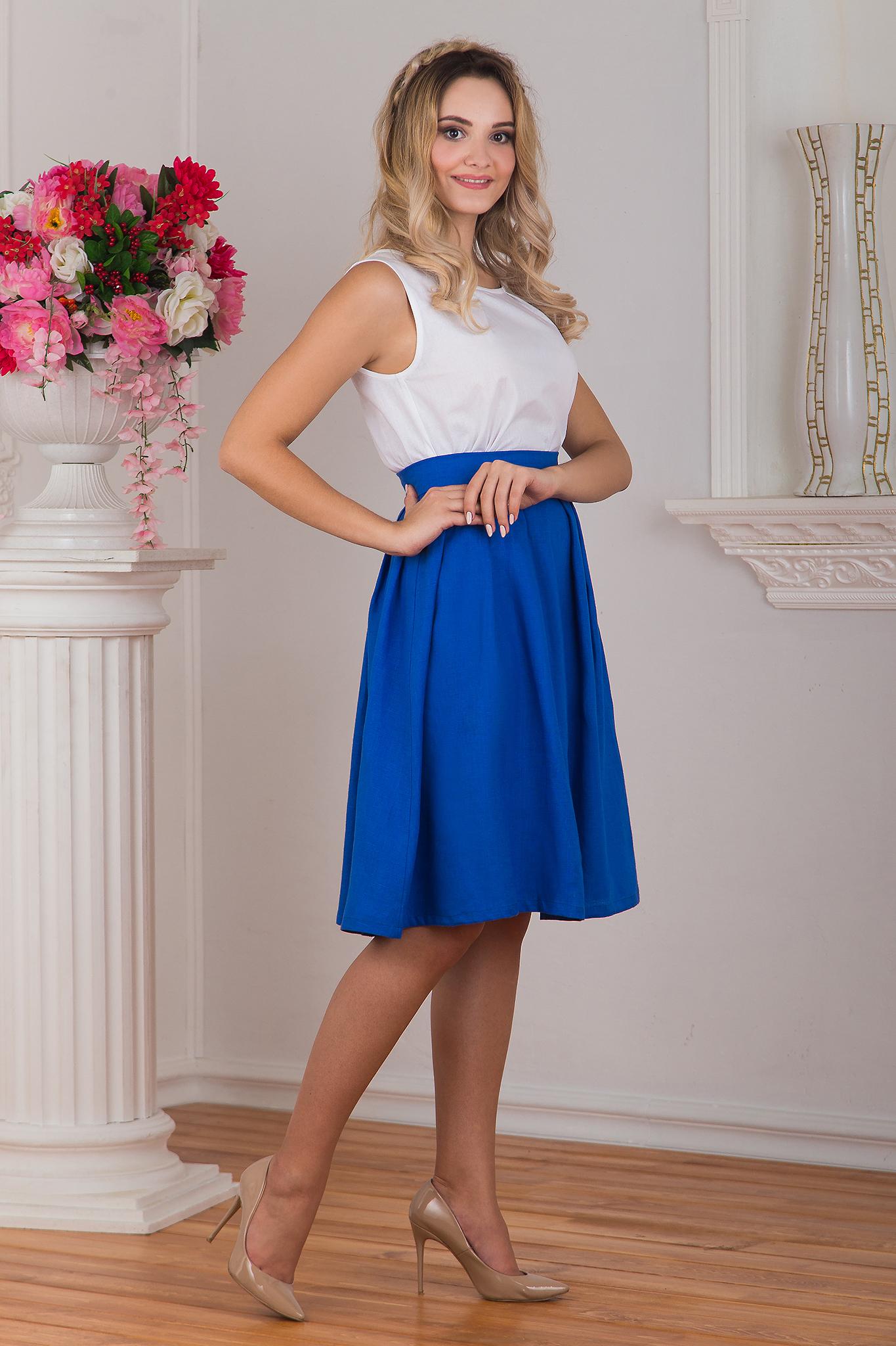 Блуза белая вид сбоку