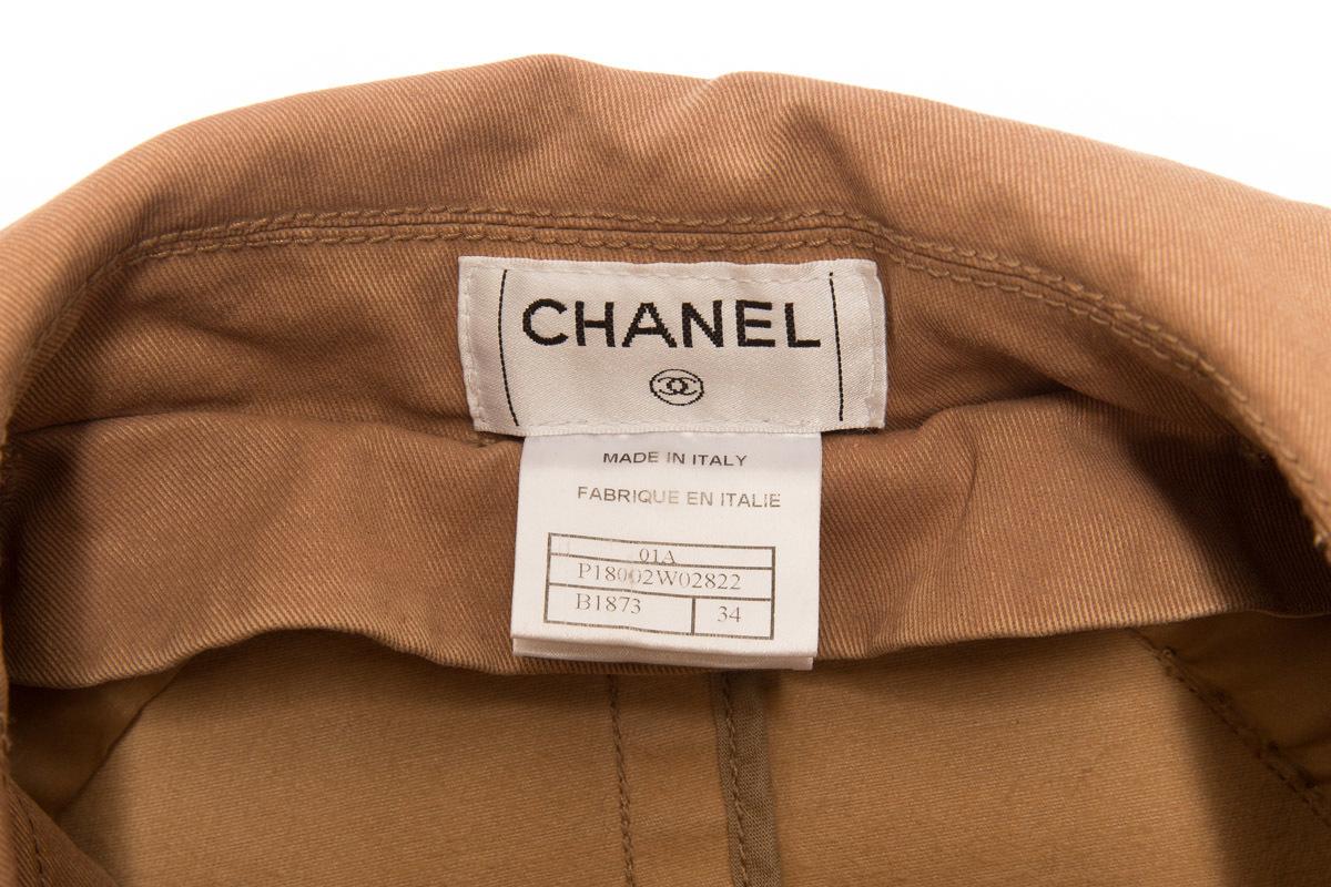 Классический бежевый тренч от Chanel, 34 размер