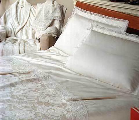 Постельное белье 2 спальное евро Cassera Casa Dodona слоновая кость