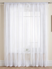 Длинные шторы. Тюль Basica (микро вуаль белый)