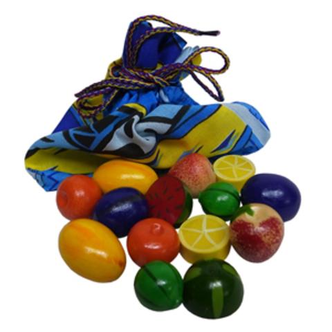 Волш. мешочек  Фрукты-ягоды цветн. тип 2 (14 дет) (RNToys)