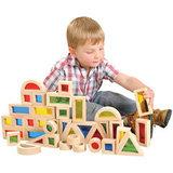 Большой конструктор Радужные блоки (Rainbow blocks), 40 деталей 8