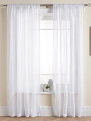Длинные шторы. Тюль Basica-2 (микро вуаль белый)