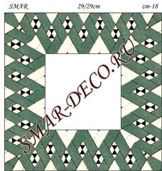 Эскиз для росписи, Зеркало 29/29см, SMAR-zm-18