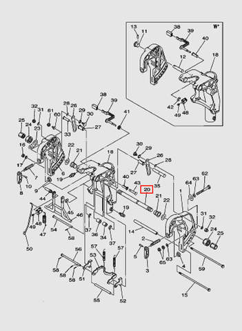 Трубка под рулевой трос для лодочного мотора T40 Sea-PRO (18-20)