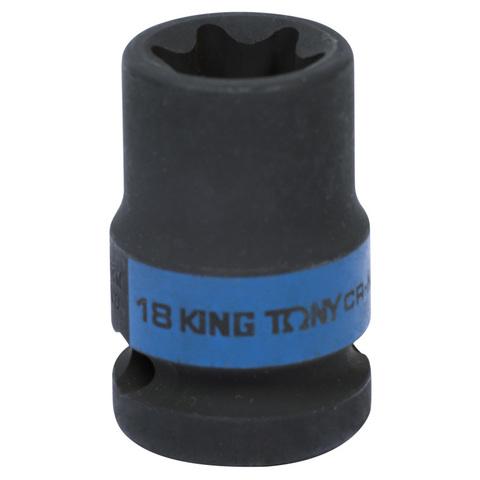 KING TONY (457518M) Головка торцевая ударная TORX Е-стандарт 1/2