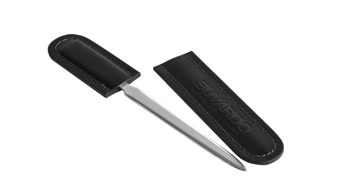 Нож с ножнами для конвертов серии Бизнес кожа Cuoietto цвет черный.
