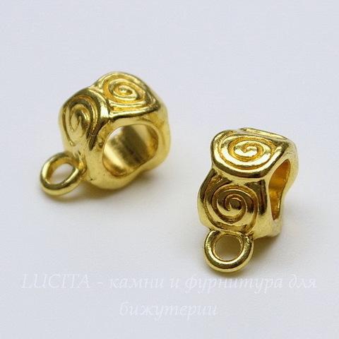 """Бейл """"Спирали"""" 12х6 мм (цвет - золото)"""