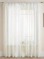 Длинные шторы. Тюль Basica (микро вуаль крем)