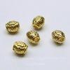 Бусина металлическая (цвет - золото) 6х5 мм, 5 штук
