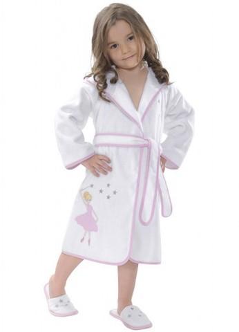 Халат детский махровый для девочки  BALERINA БАЛЕРИНА Soft Cotton Турция
