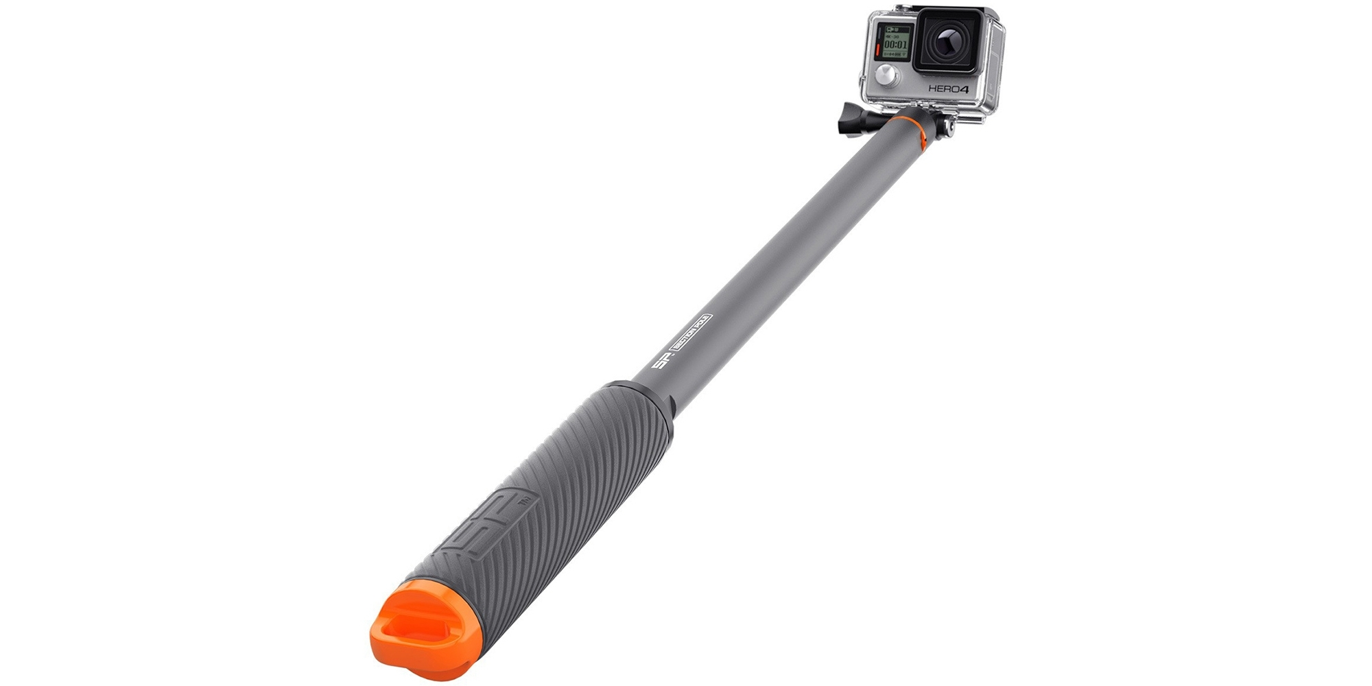 Монопод-поплавок SP Section Pole Set вытянут с камерой