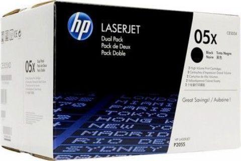 Картридж HP CE505XD - двойная упаковка для Hewlett Packard LJ P2055D / P2055DN. (Ресурс 2 x 6500 копий.)