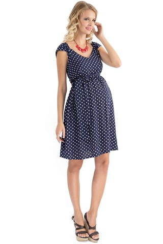 Платье 07470 синий