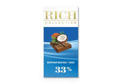 Молочный шоколад Rich с кокосовой стружкой, 70г