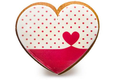 Имбирный пряник сердце, 75г