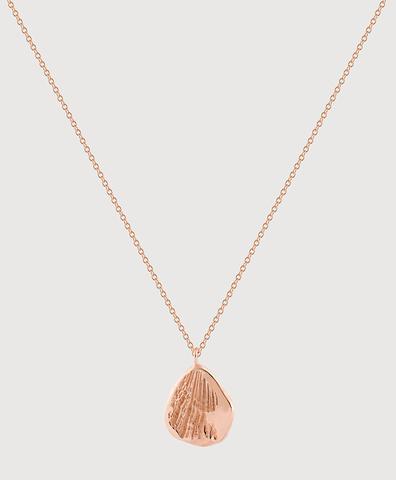 Серебряная малая подвеска с золотым покрытием и отпечатком