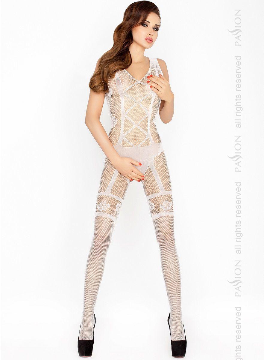 Боди и комбинезоны: Изысканный костюм-сетка с имитацией комплекта нижнего белья