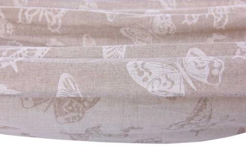 Гамак из льна серый с бабочками RG25B