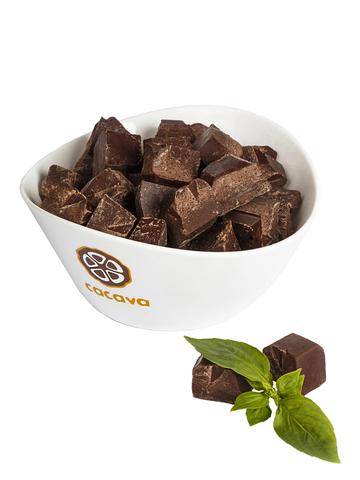 Тёмный шоколад с лимонным базиликом 70% какао (Эквадор), внешний вид
