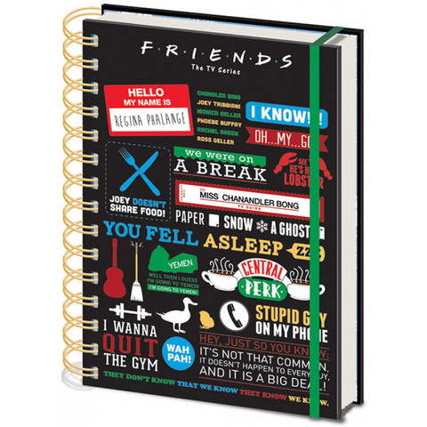 Записная книжка Pyramid: Friends (Infographic) A5 Wiro Notebooks SR72326