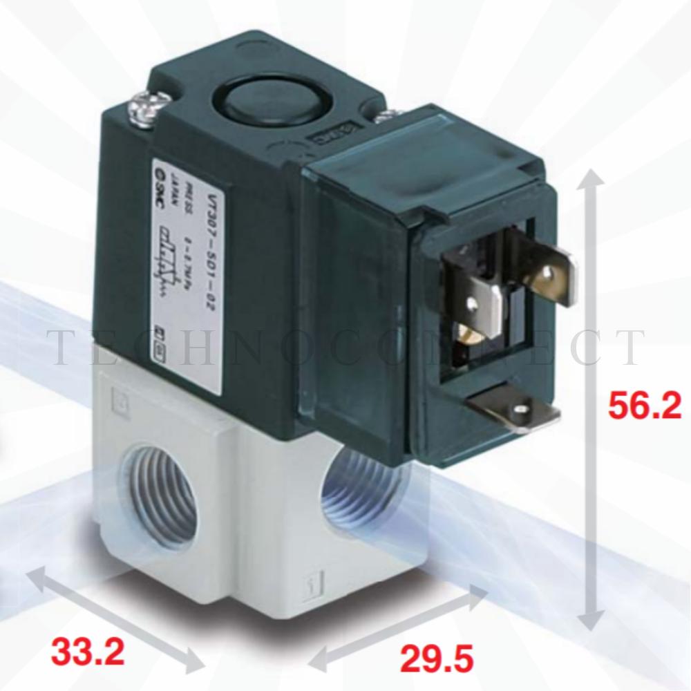 VT307E-5DO1-01F-Q   3/2-Пневмораспределитель, G1/8